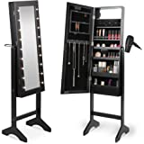 Standing Jewelry Cabinet With Mirror Amazon Co Uk