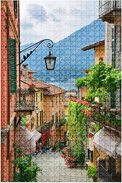 Jigsaw Puzzles 1000 Pieces for Adults-Town Street