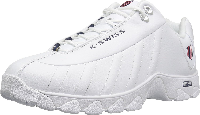 K-Swiss St-329 - Zapatillas para Hombre, Color Blanco, Azul Marino y Rojo: K-Swiss: Amazon.es: Zapatos y complementos