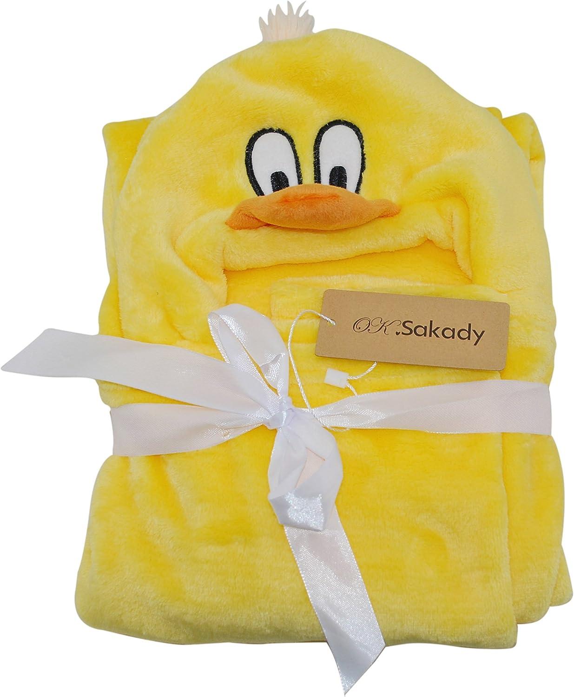 Couverture de b/éb/é serviettes de bain doux animal Strandkorb Wrap Peignoirs Poncho b/éb/é Enfants Gar/çons Filles 100*70CM