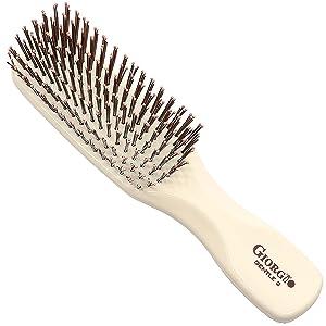 """Giorgio GIO2IVY Gentle Dresser Size Detangle Brush - Wet Hair Brush & Hair Massager for Hair Growth - Pro Detangling Brush for Sensitive Scalps - Anti Static Ionic Hair Brush (6.25"""", Ivory)"""