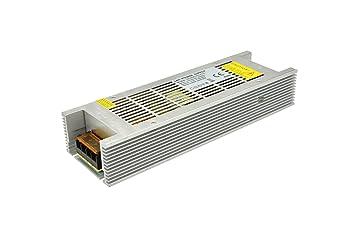 Unidad de Fuente de alimentación LED de Aluminio para Caja Interior 600W PSU 12V Adaptador de Corriente LED para Transformador para Bombillas LED Luz de ...