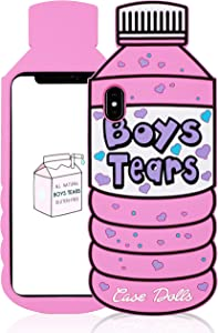 Besoar Case for iPhone Xs Max Silicone Water Bottle Cover, Cute 3D Cartoon Kawaii Soft Cover, Trendy Hypebeast Design Cool Fun Funny Cases for iPhone Xs Max 6.5