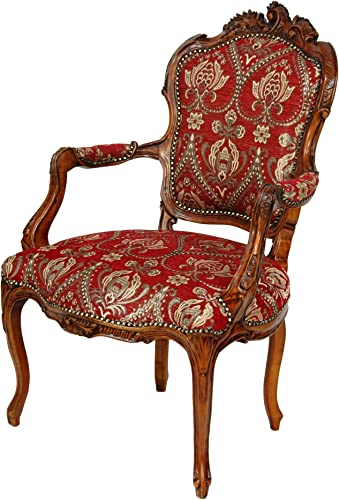 Oriental Furniture Queen Elizabeth Arm Chair