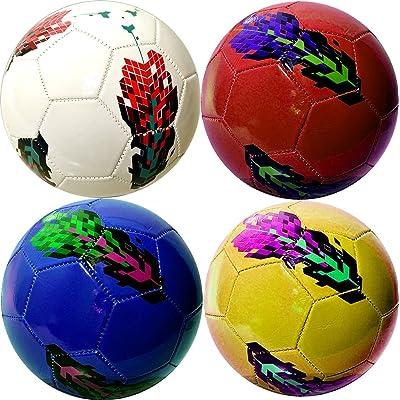 Football En Cuir Synthétique Enfants Ballon Balle Rouge