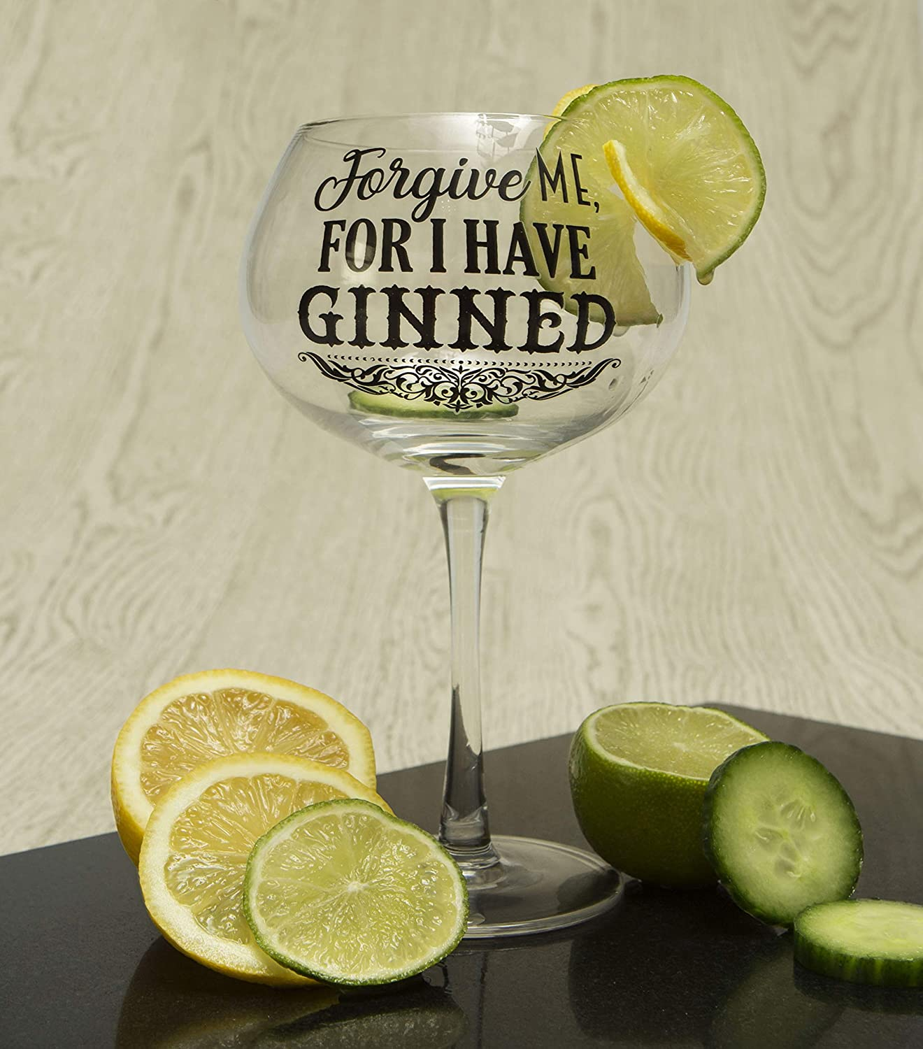 One size Funny Gin Glassware Perfect for Christmas Boxer Gifts Forgive Bloom Balloon Glass Mothers Day Or Birthday Packaged in a Gift Box
