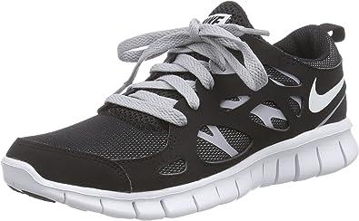 Nike Free Run 2 (GS), Zapatillas de Running para Niños, Negro/Blanco/Gris (Black/White-Wolf Grey), 36 EU: Amazon.es: Zapatos y complementos