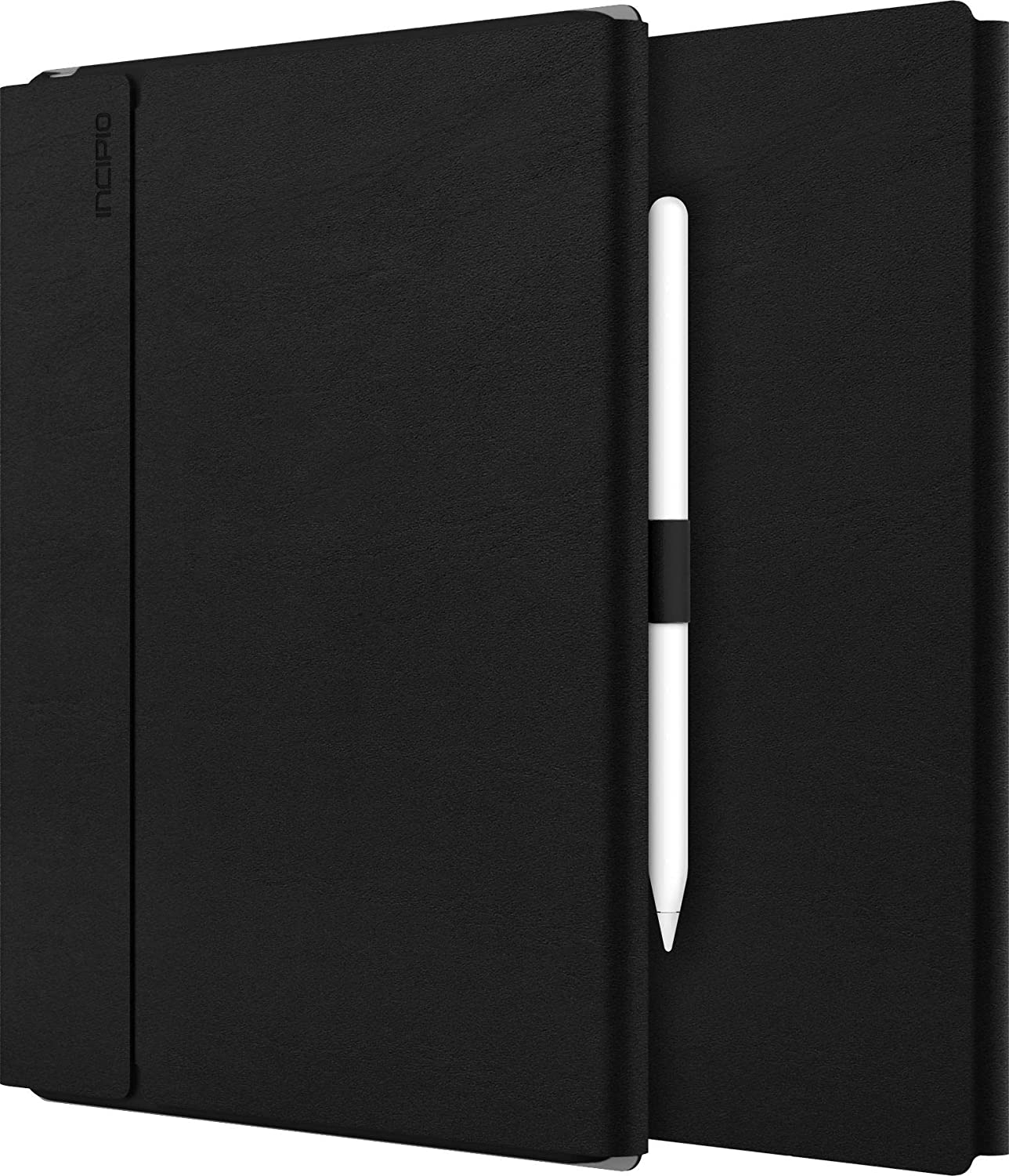 """Incipio Faraday Folio Case Apple 12.9"""" iPad Pro (2018) - Charging Mode of Apple Pencil 2. Gen Compatible – Black [Wake/Sleep I Artificial Leather I Stand Function I Magnetic Closure] – IPD-400-BLK"""