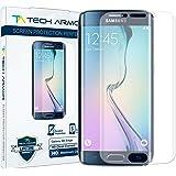 Protectores de Pantalla de Claridad de Alta Definición (HD) Tech Armor Galaxy S6 Edge -- Máxima Claridad y Precisión de Pantalla Táctil [Pack de 3] Garantía de por Vida