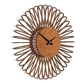 Amazonde Wanduhr Circulo S Moderne Design Wanduhr Aus Holz