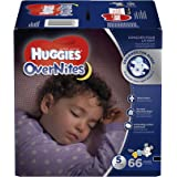 HUGGIES OverNites Diapers, Size 5, 66 ct, GIGA JR PACK Overnight Diapers (Packaging May Vary)