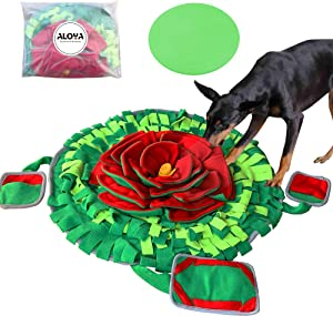 ALOYA Snuffle Mat for Dogs,Snuffle Mat,Dog Puzzle Toys for Extra Large Dog Toys for Boredom Interactive Pet Small Large Food Dispensing Feed Game Toy Dog Treat Indoor(Flower XL)