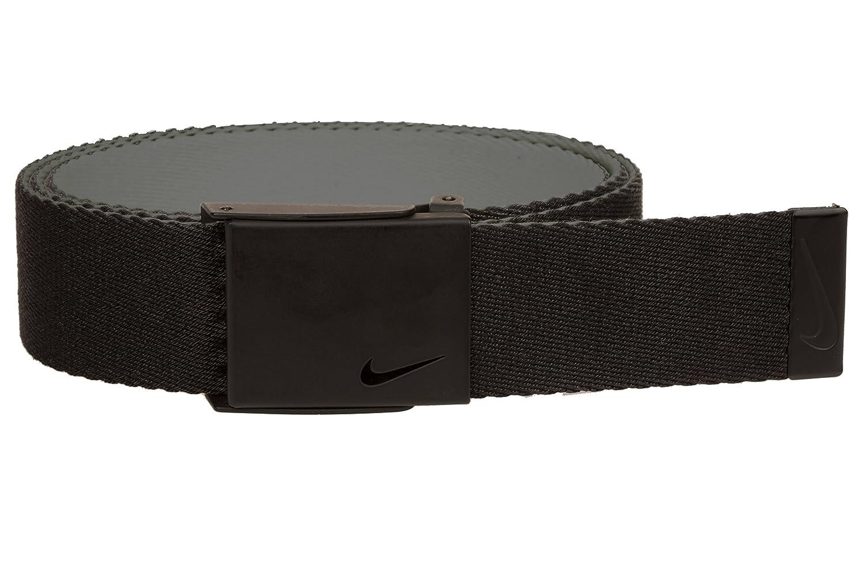 673e09091a Amazon.com: Nike Men's New Tech Essentials Reversible Web Belt,  Black/Charcoal, One Size: Clothing