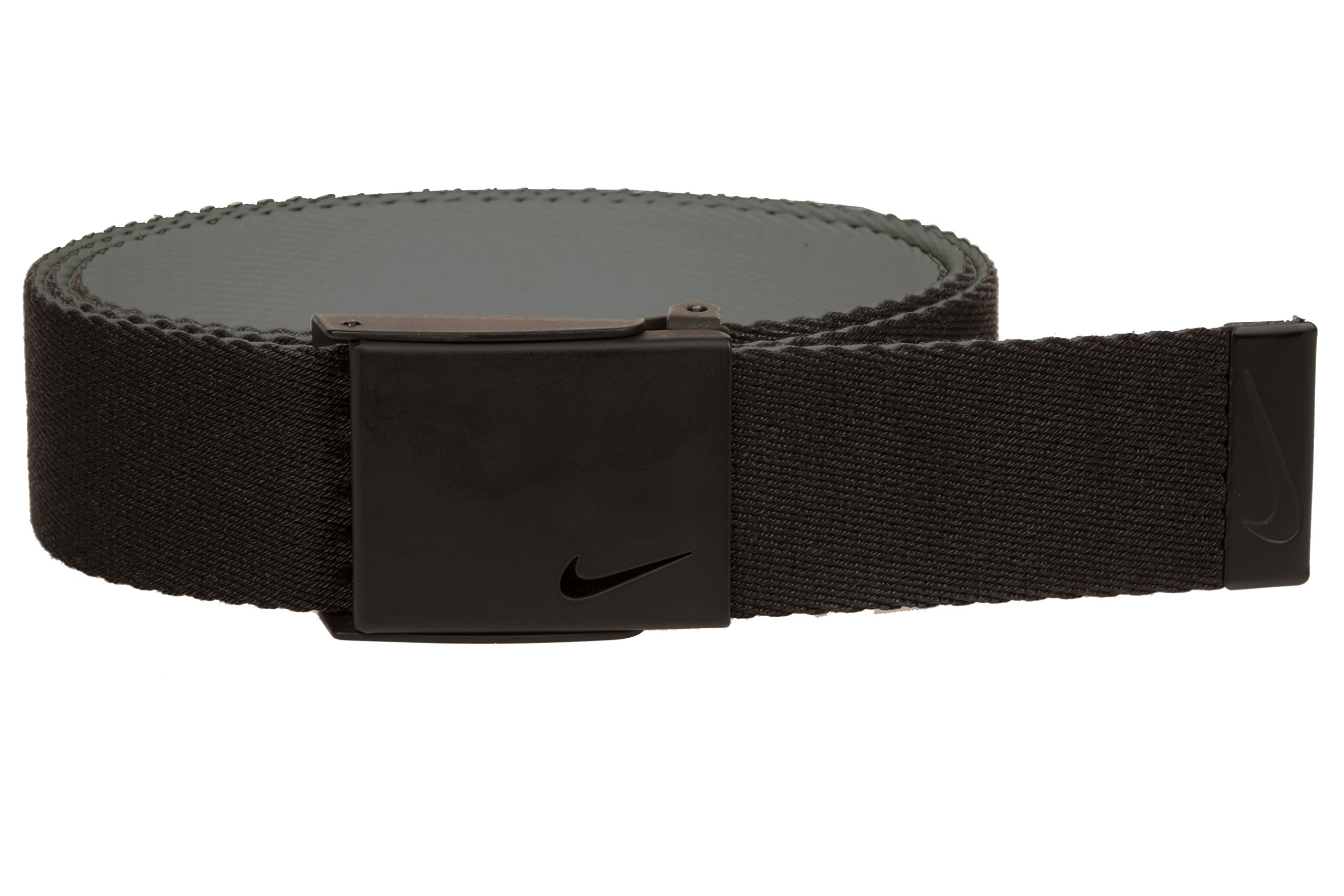 Nike Men's New Tech Essentials Reversible Web Belt, Black/Charcoal, One Size