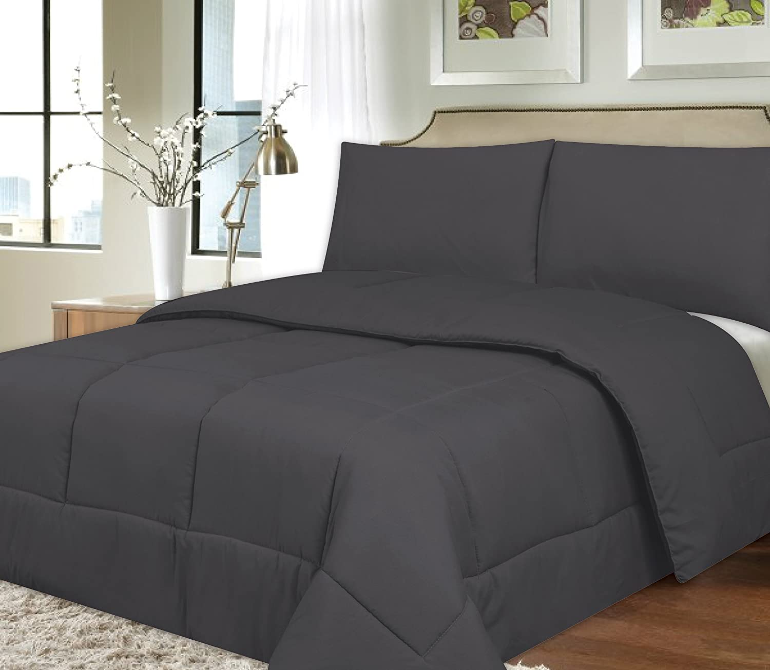 and full comforter light gorgeous plain sets grey bedroom bedding set of comforters fluffy gray dark blue size king queen white