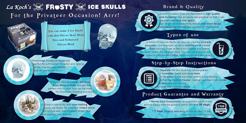 Frostige Eisschädel 3d Eisformtablett Einfach Zu