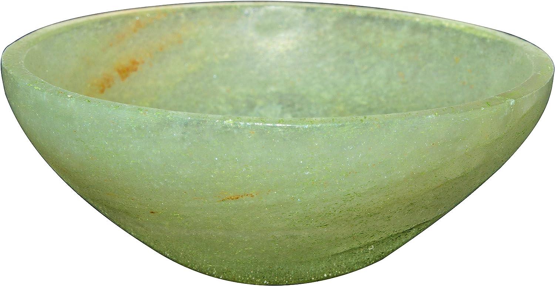 FASHIONZAADI Green Jade Natural Hand Carved Bowl Crystal Bowl for Chakra Balancing Crystal Bowls Tray Dish Home Decor Metaphysical Gemstone Energy Spiritual Healing Size 2 Inch Approx