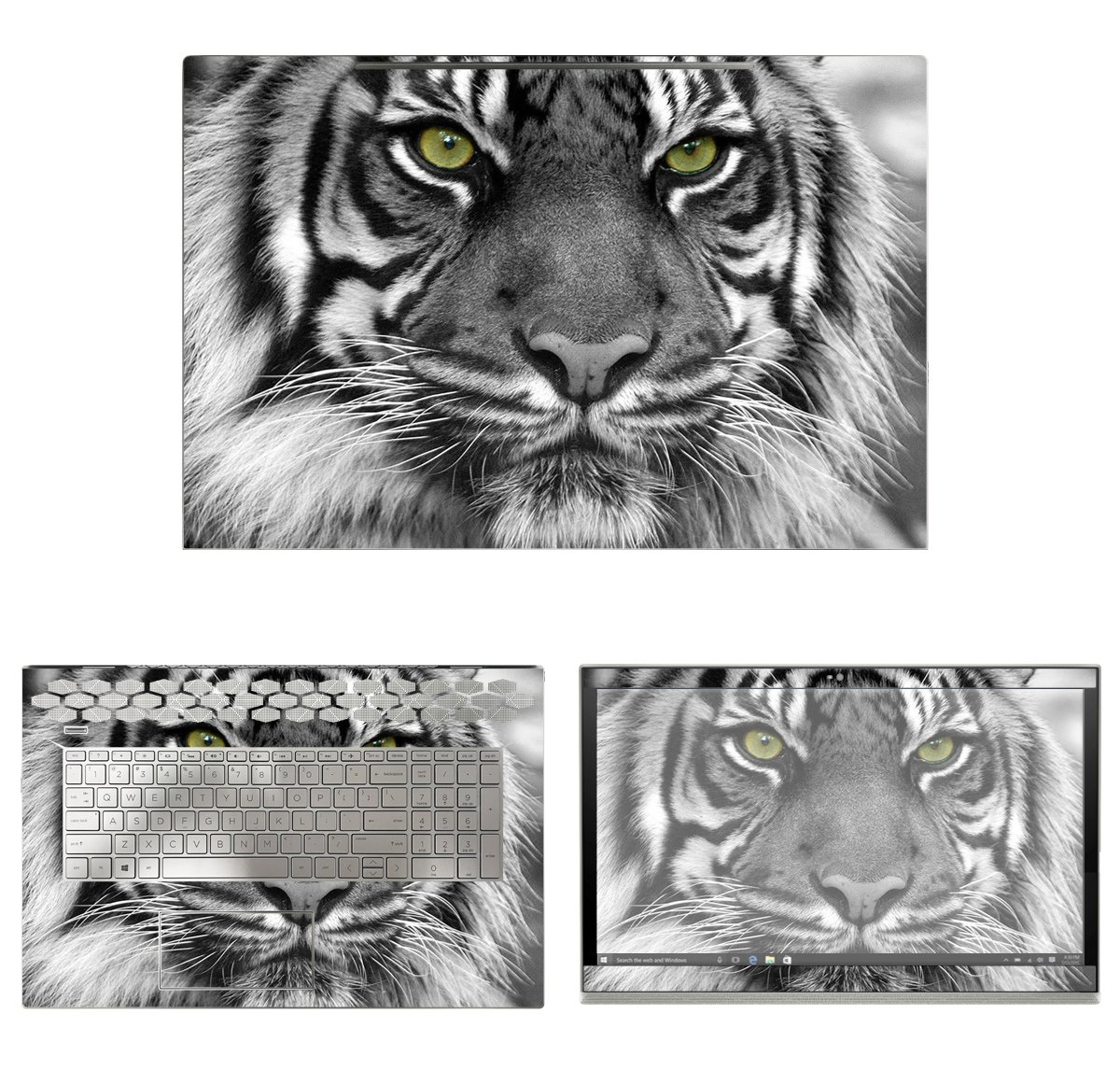 decalrus - Protective Decal Tiger Skin Sticker for HP ENVY 17M-BW0013DX (17.3'' Screen) case cover wrap HPenvy17m_bw0013dx-87