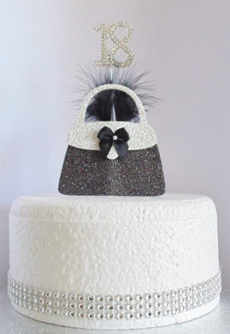 Astounding 18Th Birthday Cake Decoration Silver Handbag With Diamante Personalised Birthday Cards Epsylily Jamesorg