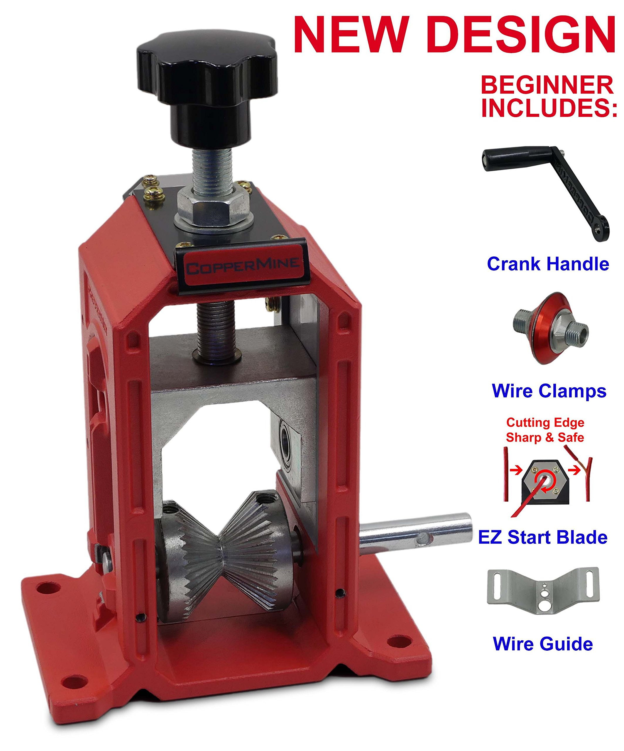 New Manual Copper Wire Stripping Machine Cable Wire Stripper Hand Crank Operated by CopperMine