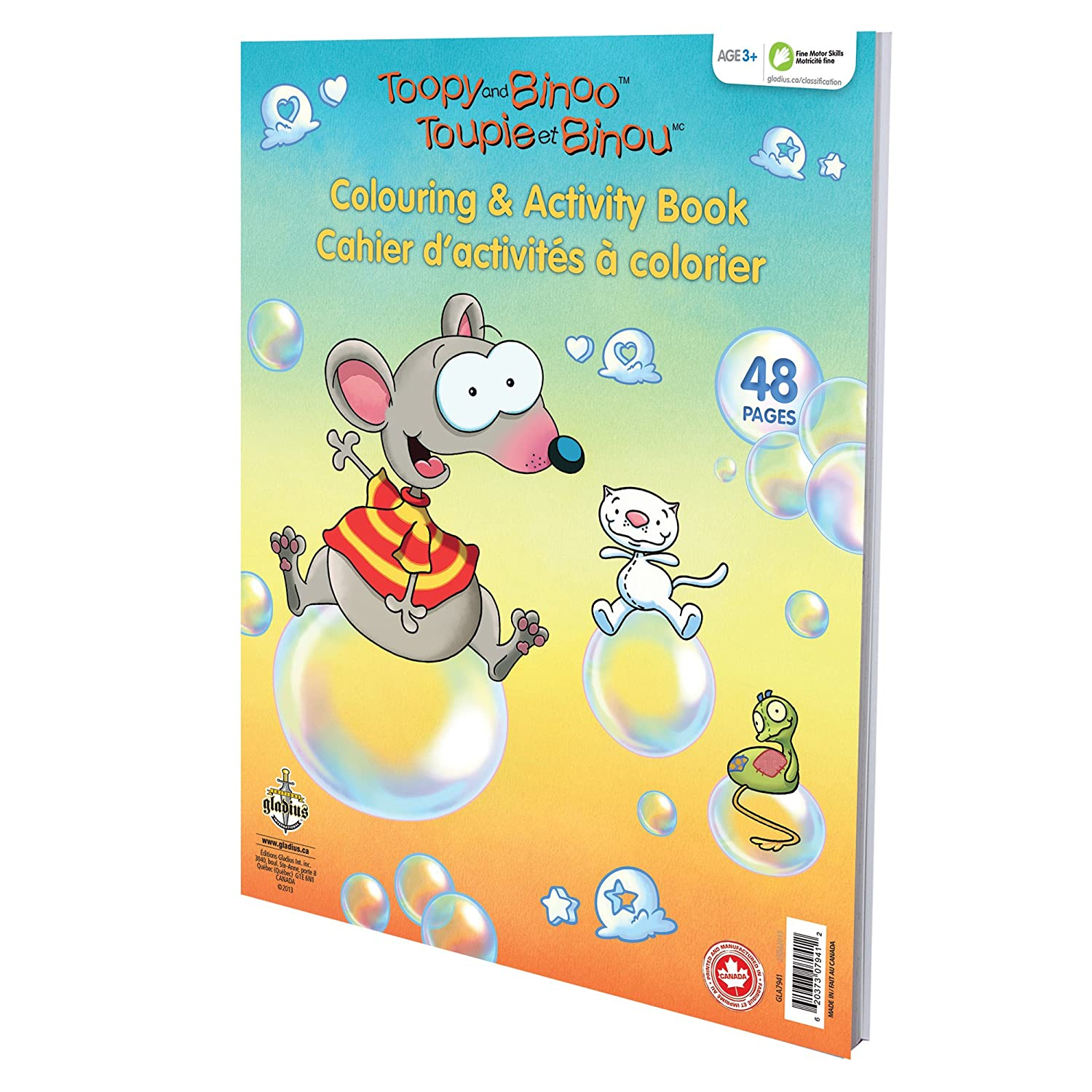 toopy and binoo toopy u0026 binoo activity book multi amazon ca baby