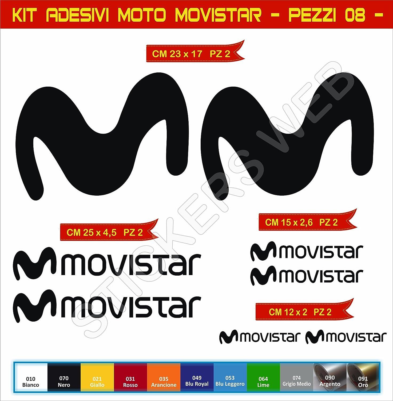 Adesivi stickers MOTO MOVISTAR moto motorbike Cod.0617