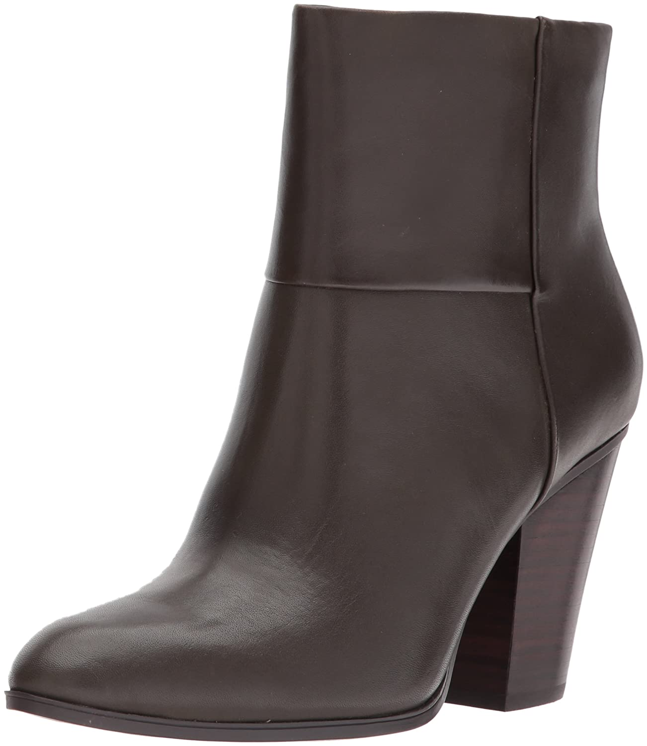 Nine West Women's Hollie Leather Ankle Boot B071Z3PZBZ 6.5 B(M) US|Natural Leather Leather