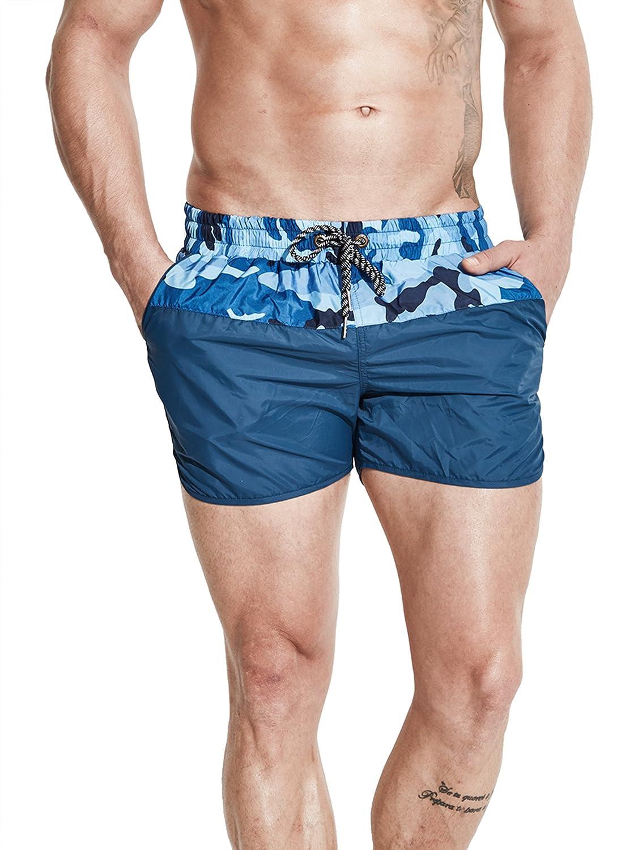 Neleus メンズドライフィットショーツ ポケット付き B073S99H6T XL,9718# Navy Blue