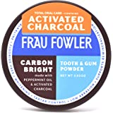 Frau Fowler CARBON BRIGHT Tooth Powder Activated Charcoal - Teeth Whitening, Remineralizing, Sensitive-Teeth, 2 oz / 6…