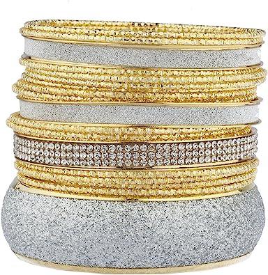 Lux Accessories Silver Tone Full Crystal Rhinestone Infinity Bangle Bracelet