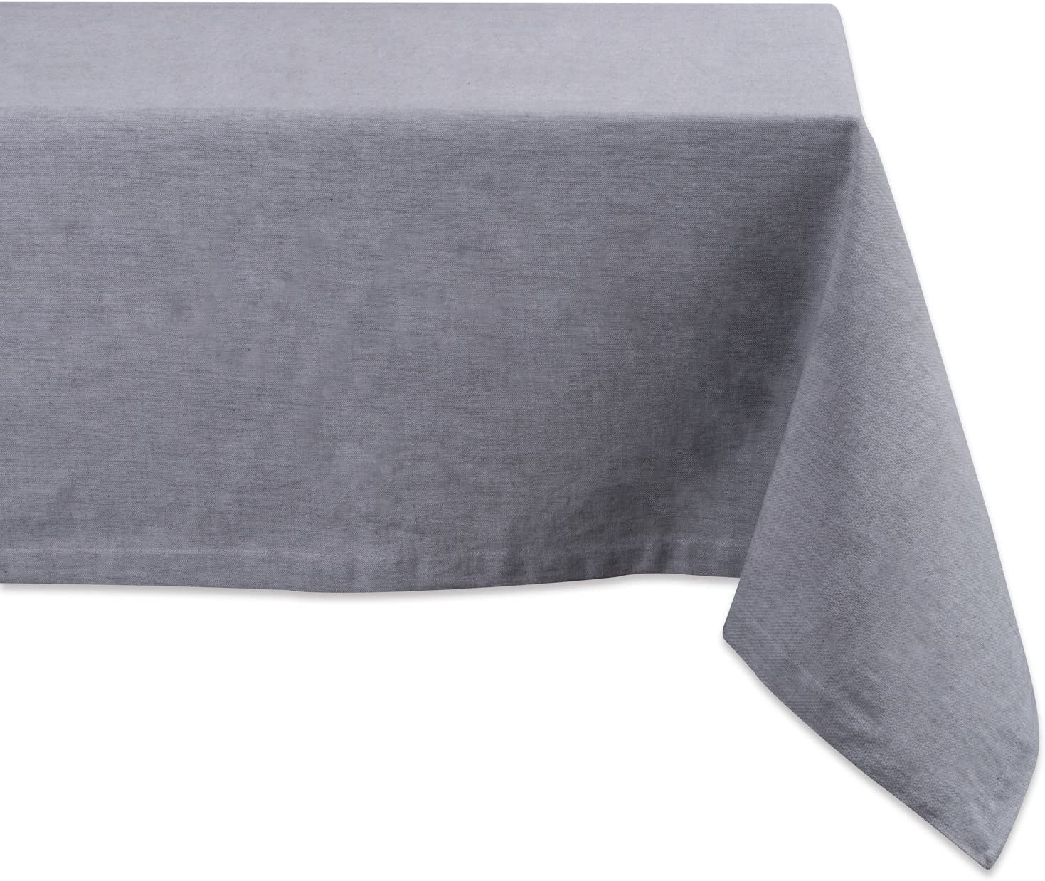 DII 100% Cotton, Chambray Tablecloth, Everyday Basic, Seats 6 to 8 People, 60x104, Gray