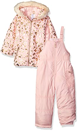 d4e31a833 Carter's Girls' Little 2-Piece Heavyweight Printed Snowsuit, Leopard Light  ...