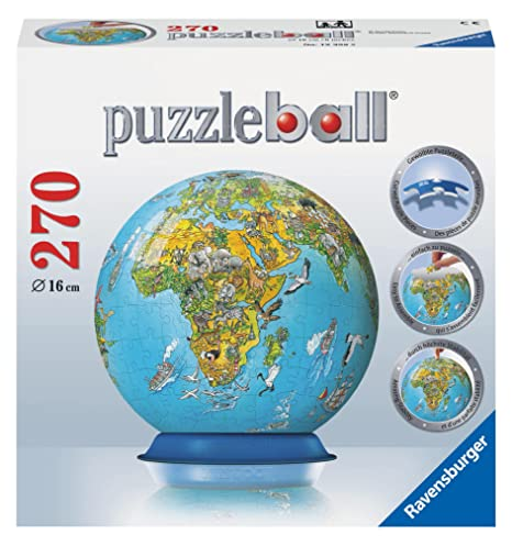 Amazon illustrated world map 270 piece puzzleball toys games illustrated world map 270 piece puzzleball gumiabroncs Choice Image