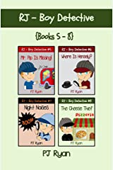 RJ - Boy Detective Books 5-8: 4 Fun Short Story Mysteries for Children Ages 9-12 Kindle Edition