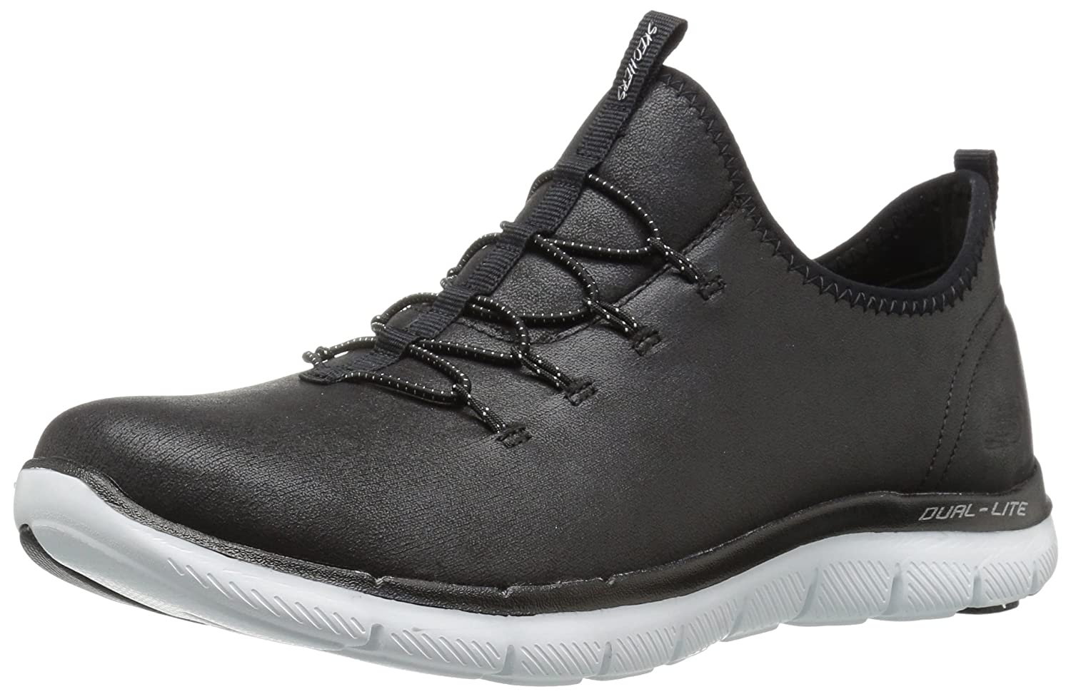 Skechers Women's Flex 5.5 Appeal 2.0 Top Story Sneaker B071X81X62 5.5 Flex B(M) US|Black f99753