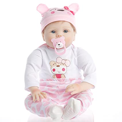 NPK Collection Reborn Baby Doll realistic baby dolls 22 inch Vinyl Silicone Babies Doll Newborn real baby doll Smile boy SanyDoll