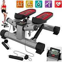 Fitness Exercise Elliptical Twister Stepper  Upgraded Quality Steel, Easy Standing Workout, Digital Display, Resistance Band  Elliptical Trainer Burns 15% More Calories Than an Exercise Bike