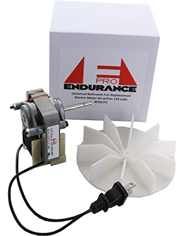 endurance pro universal bathroom vent fan motor complete kit replacement  for c01575, 50 cfm,