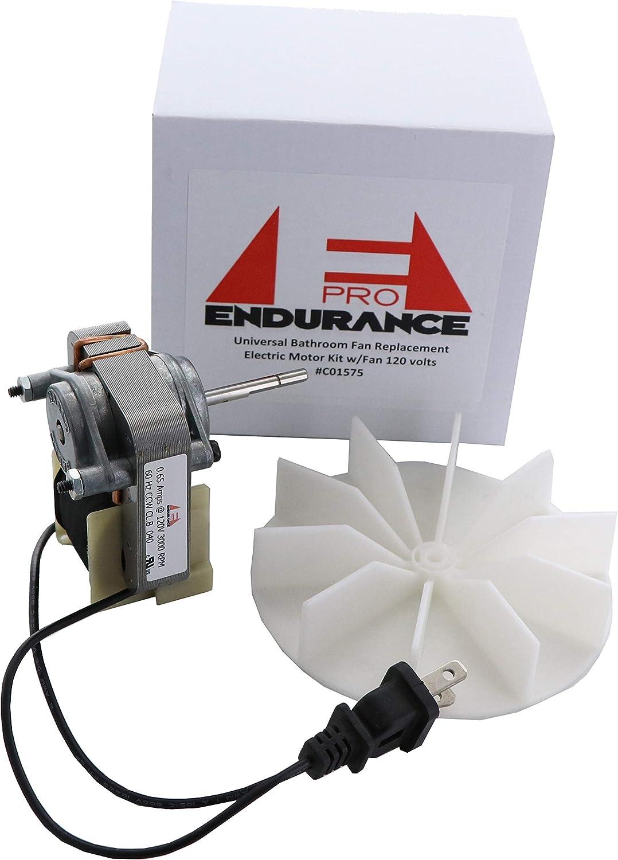 Endurance Pro Universal Bathroom Vent Fan Motor Complete Kit Replacement For C01575 50 Cfm 120v Amazon Com