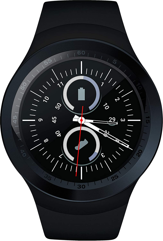 Level Up Reloj Inteligente, Reloj smartwatch Bluetooth Deportivo Modelo ZED 2 con podómetro, pulsometro, giroscopio HD, monitoreo de sueño y notificación de ...