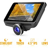 """OldShark G16 Car Camera - Dash Cam with 4.5"""" IPS Touch Screen, Real Starlight Night Vision Dashboard Cam 1080P FHD 170 Wide-Angle Car DVR Recorder with ADAS, G-Sensor, WDR, Dashcams for Car and Trucks"""