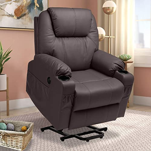 Haverchair Electric Power Lift Recliner PU Leather Chair
