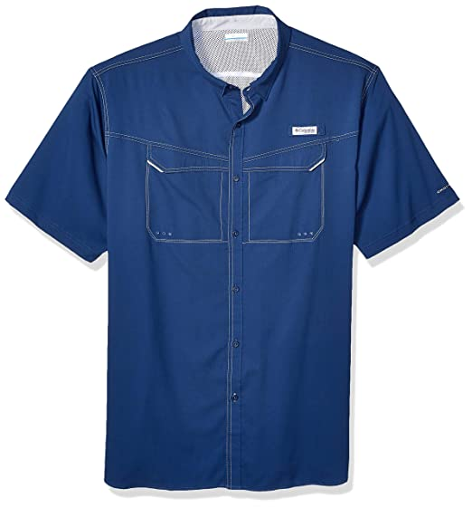Columbia Pfg Long Sleeve Shirt Upf 40 Riptide Blue Mens Medium Without Return Men's Clothing