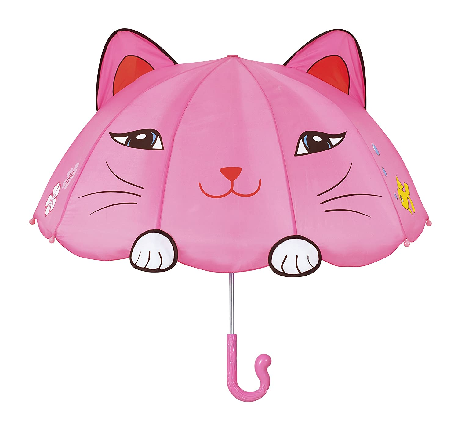 Kidorable Umbrella Girls Pink One Size Lucky Cat