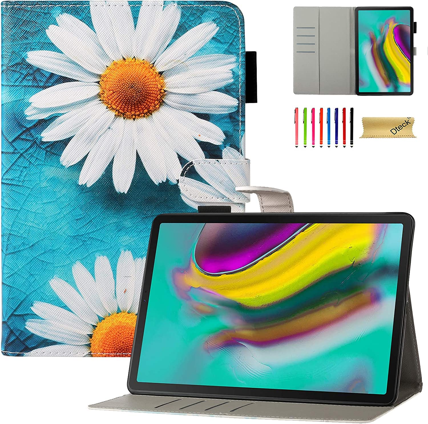 iPad 7th Generation, iPad 10.2 Case 2019, Dteck Slim Folio Stand Premium PU Leather Wallet Case with Auto Sleep/Wake Protective Smart Cover for Apple iPad Pro 10.5 2019/2017 Release, Daisy