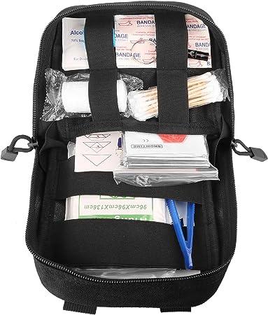 DCCN Pochette EMT M/édecine Tactique Molle Sac de Premiers Soins Kit de Premier Secours Militaires pour Randonn/ée Camping Airsoft