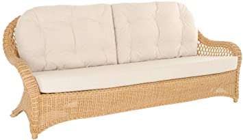 korb.outlet Edles Wohnzimmer Rattan-Sofa Prince 3-Sitzer ...