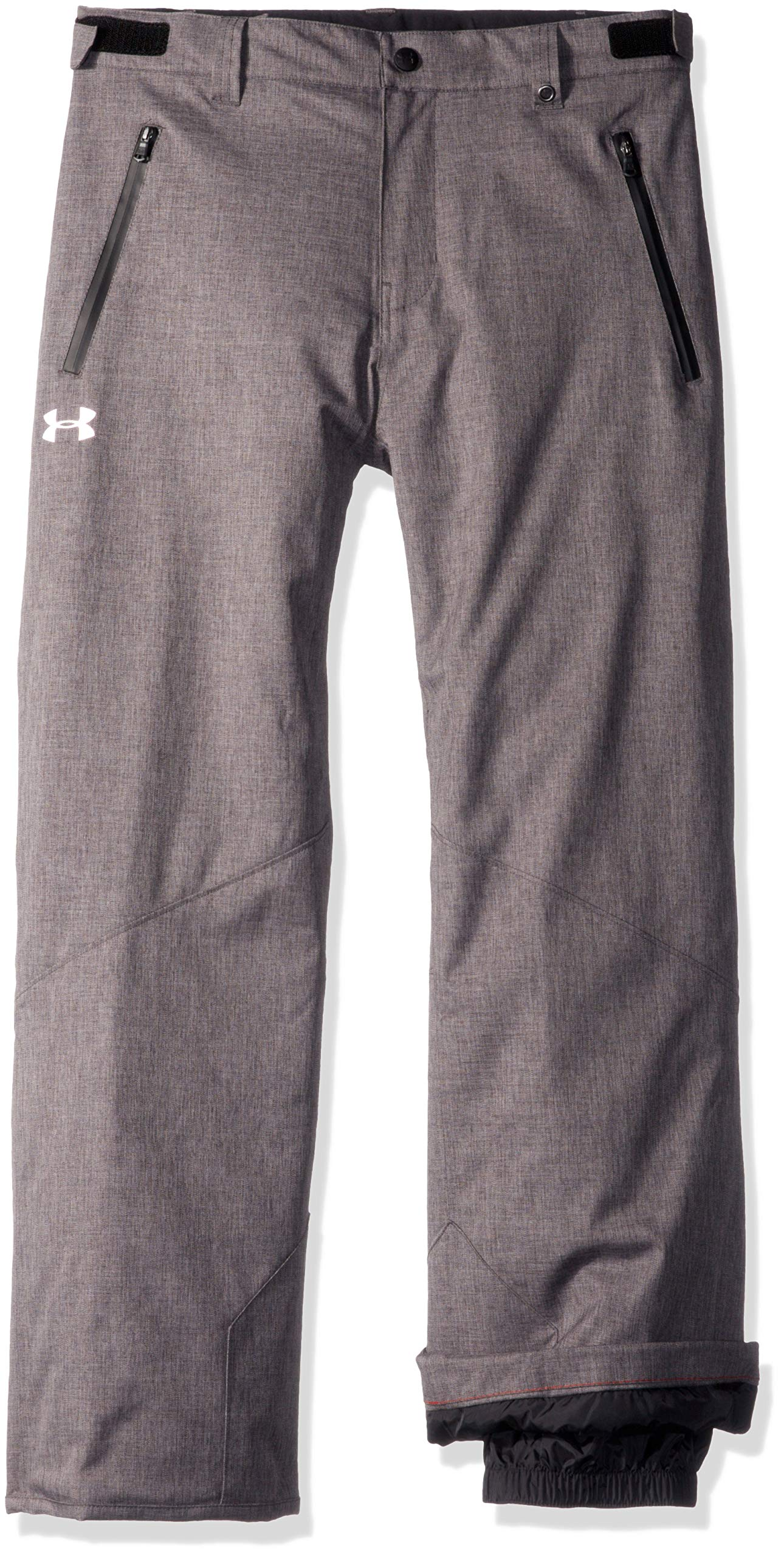 Under Armour Boys' Big Heather Rooter Insulated Pant, Carbon, Small (8) by Under Armour