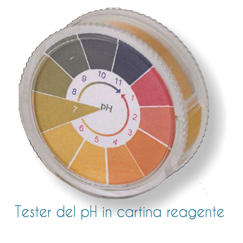 Tester pH - Cartina Tornasole in rotolo 1 pz. - Carta reagente per rilevare im modo pratico e veloce il valore del pH dell'acqua. Spedizione IMMEDIATA Tecno Line sas