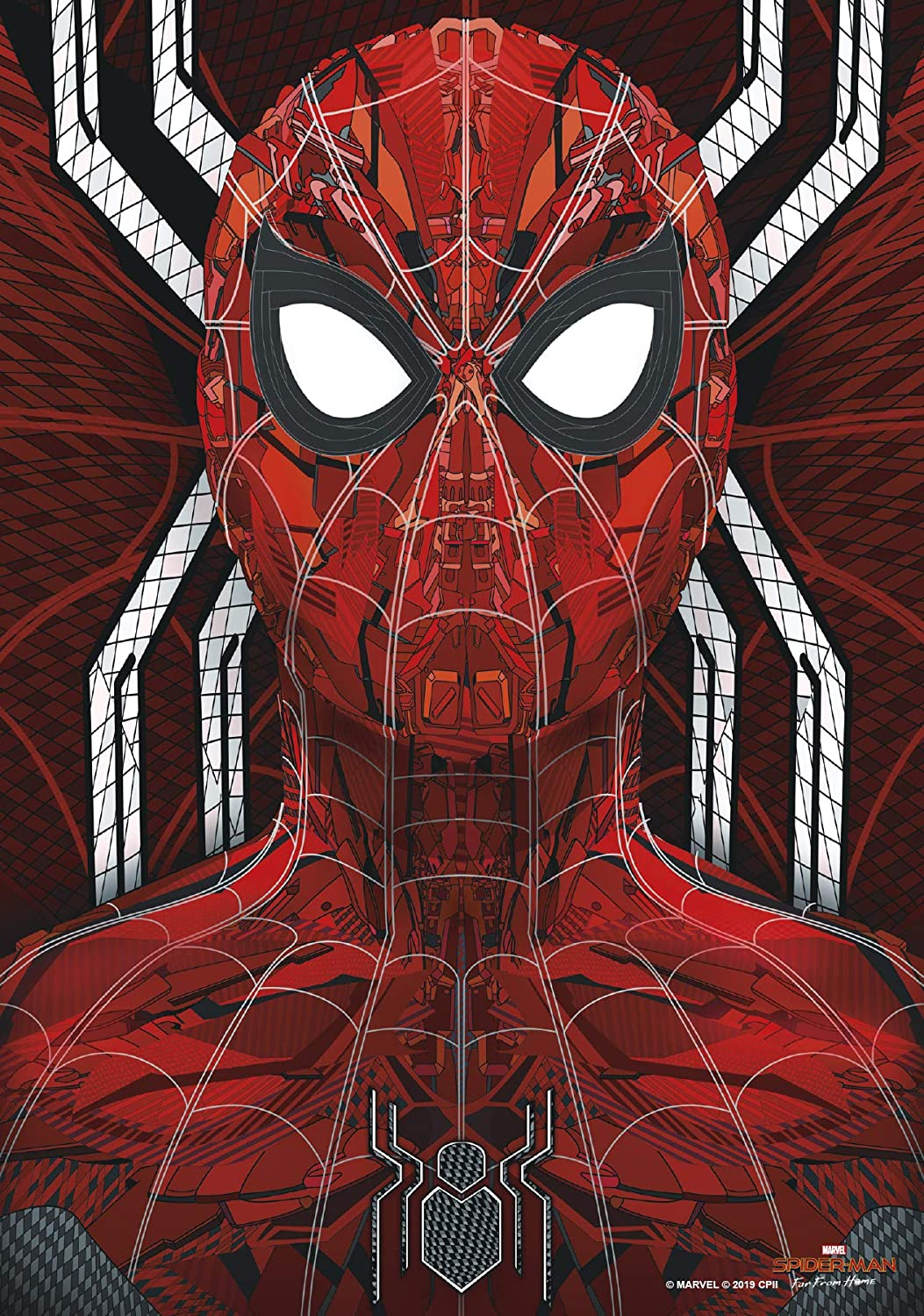 """Trends International 8.25 x 11.75 MDF - Spider-Man: Far from Home - Web Tech Wall Poster, 8.25"""" x 11.75"""" x .197"""", Multi"""